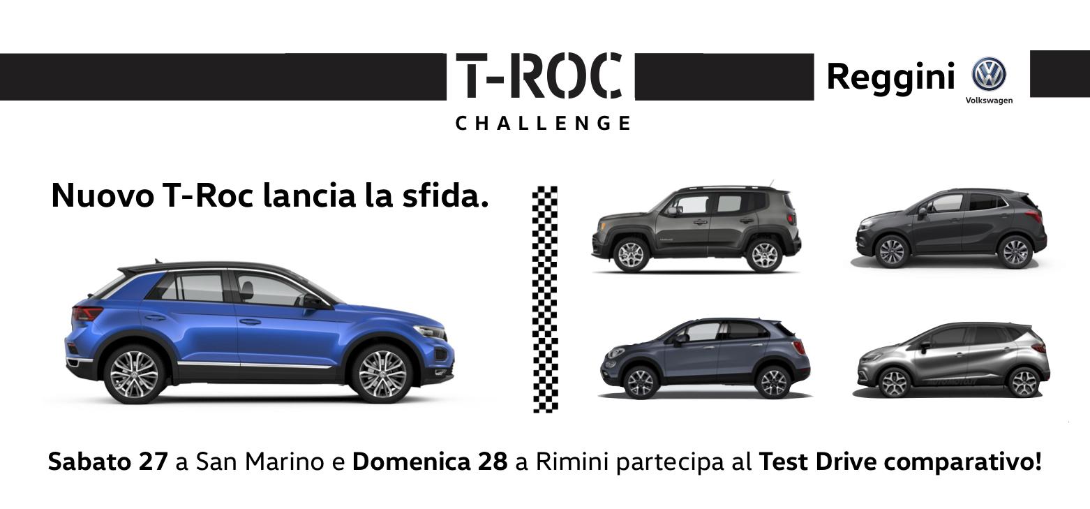 Nuovo T-Roc lancia la sfida!