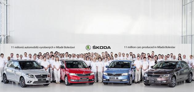 Prodotte 11 milioni di auto a Mladá Boleslav