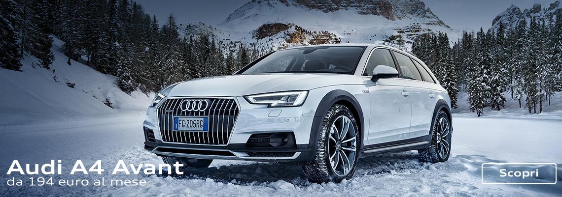 Gamma Audi A4 con finanziamento a tasso 0 ed extra vantaggio fino a € 3.000