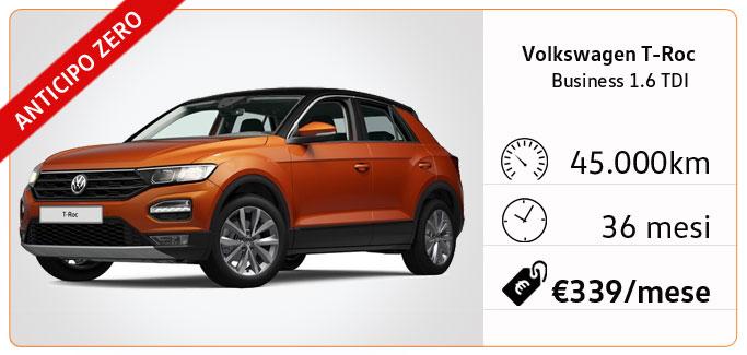 Volkswagen T-ROC 1.0 TSI Style tua da €278 al mese