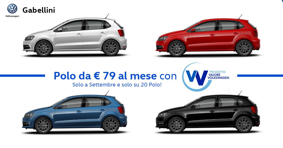 Polo da € 79 al mese con Progetto Valore Volkswagen!