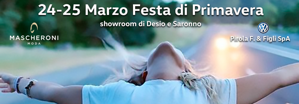 Open Weekend 24-25 Marzo