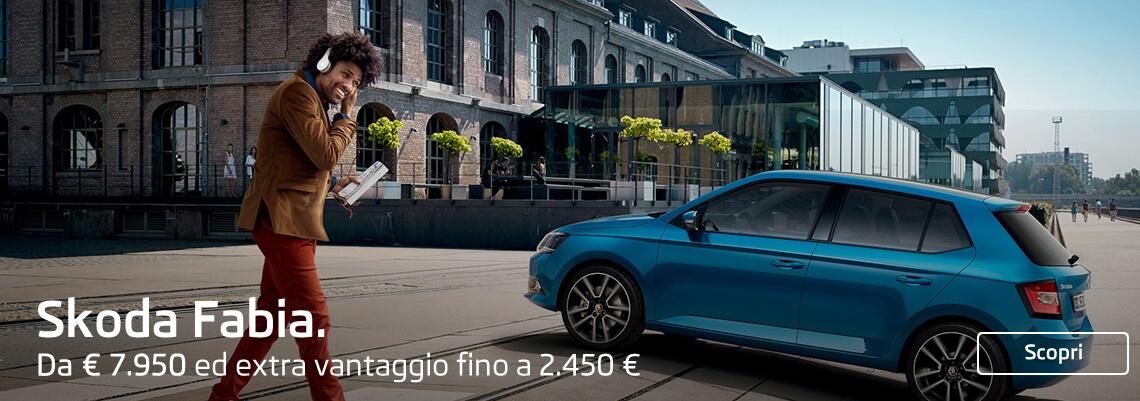 Skoda Fabia da € 10.900 ed extra vantaggio fino a 2.450.