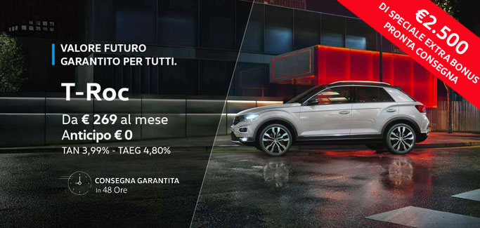 Volkswagen T-Roc tua da €269