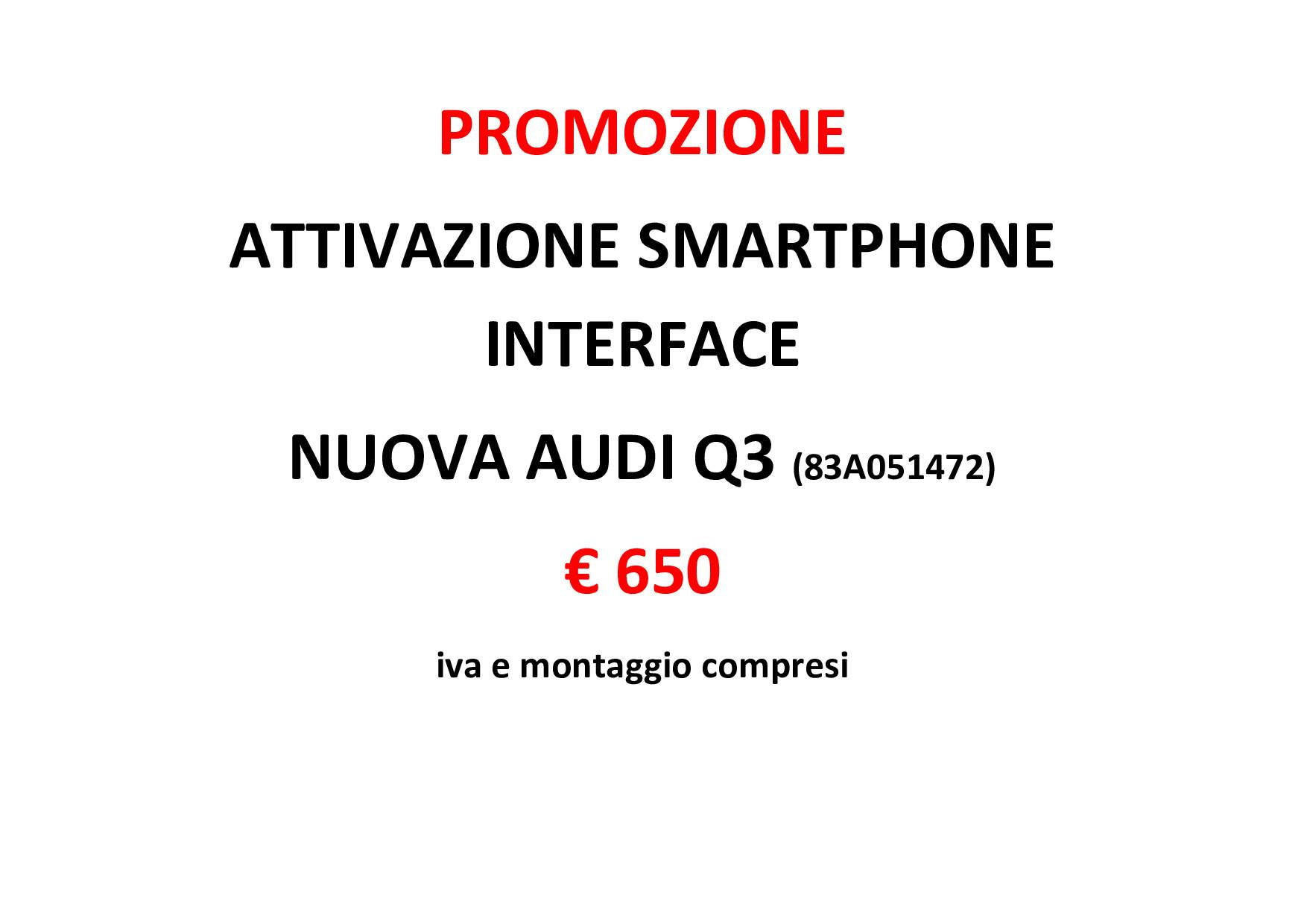 PROMOZIONE AUDI SMARTPHONE INTERFACE