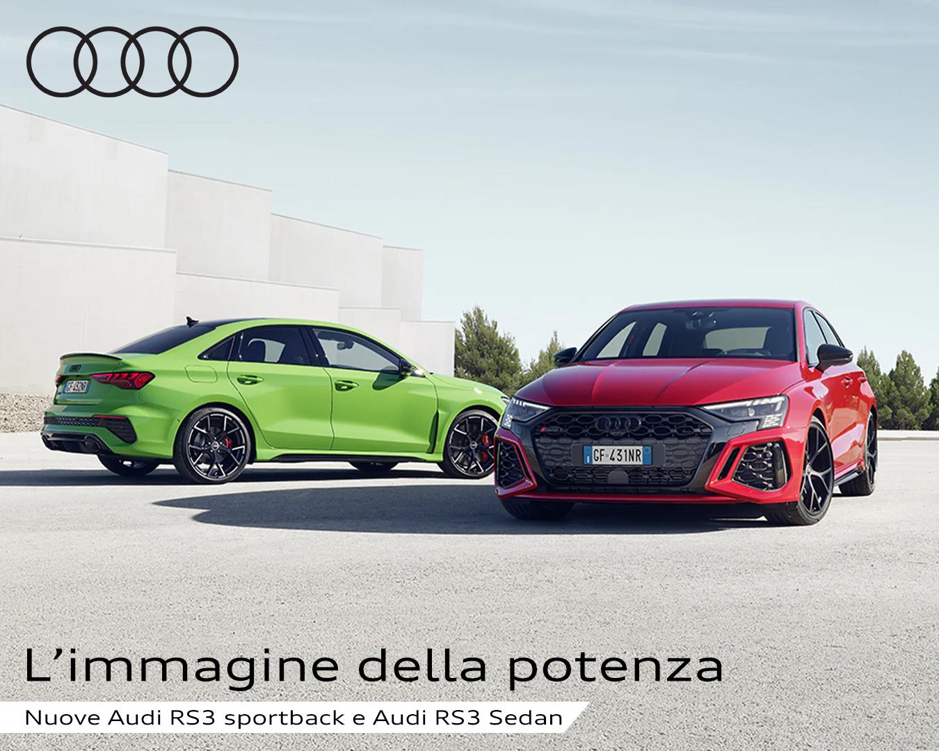 Nuove Audi RS3 sportback e Audi RS3 sedan