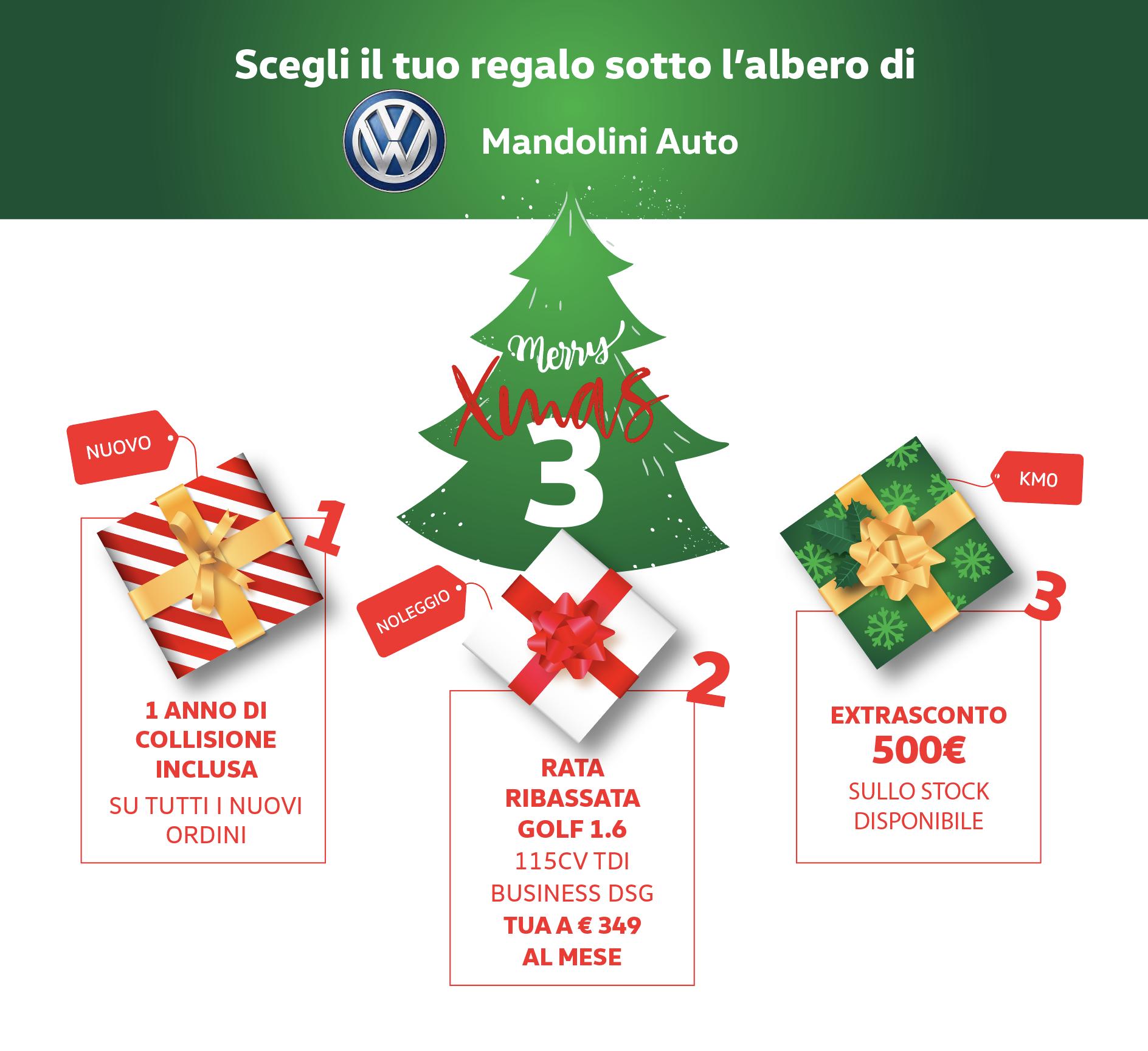 XMAS 3! Scegli il tuo regalo sotto l'albero di Natale di Mandolini!