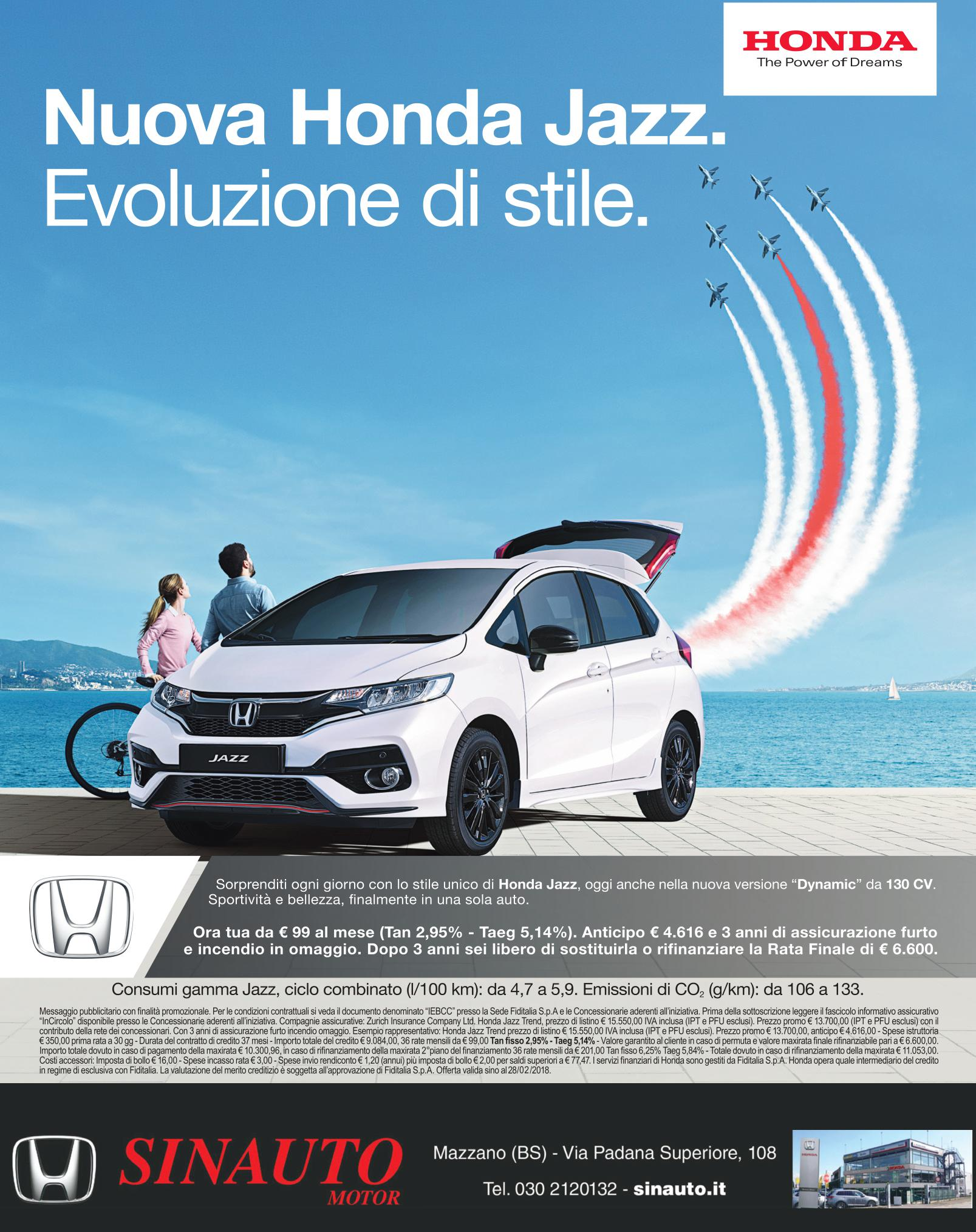 Scopri la nuova Honda Jazz Dynamic 2018