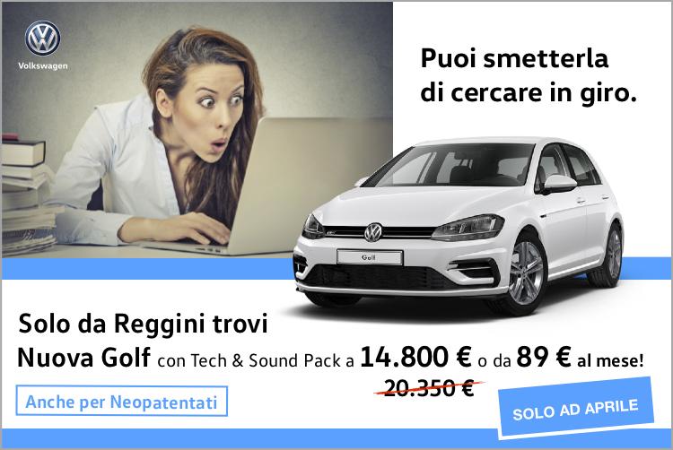Non è incredibile? Nuova Golf a 14.800 euro!