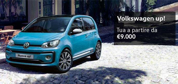 Promozione Volkswagen up! per Neopatentati a partire da €9.000