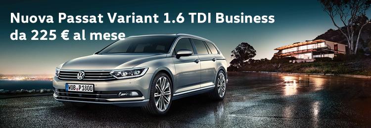 Passat Variant 1.6 TDI Business da 225 € al mese