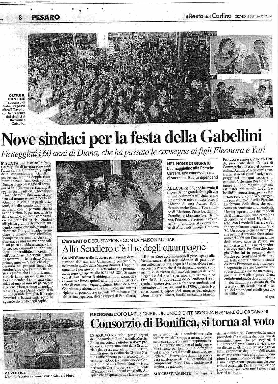 4/09/2014 Nove sindaci per la Festa della Gabellini