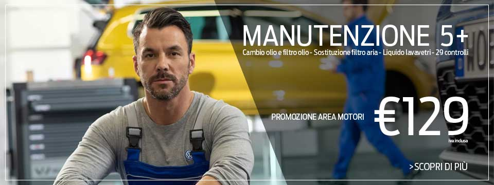 Manutenzione 5+ a €129 IVA inclusa