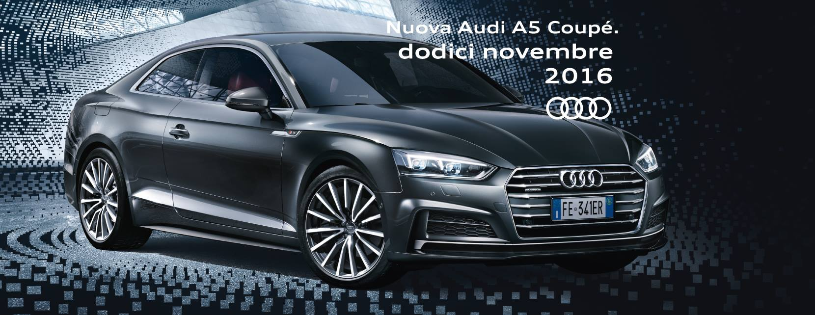 Sabato 12 novembre, ecco la Nuova Audi A5 Coupè