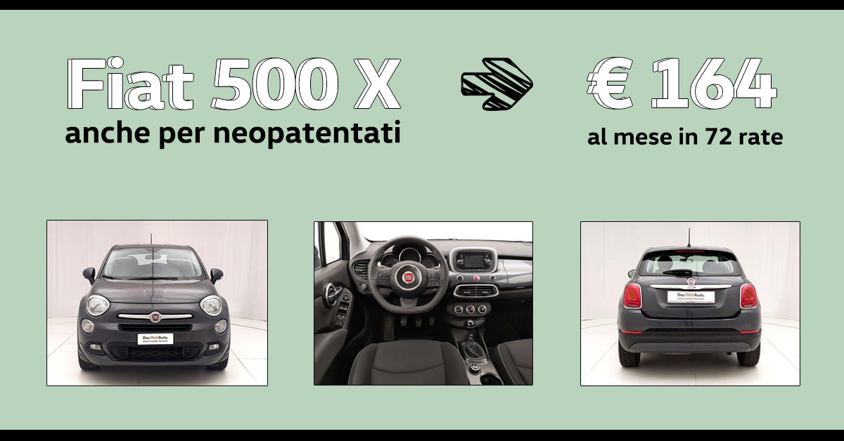 Fiat 500 X per neopatentati!