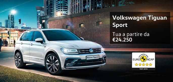 Volkswagen Tiguan tua a partire da €24.250