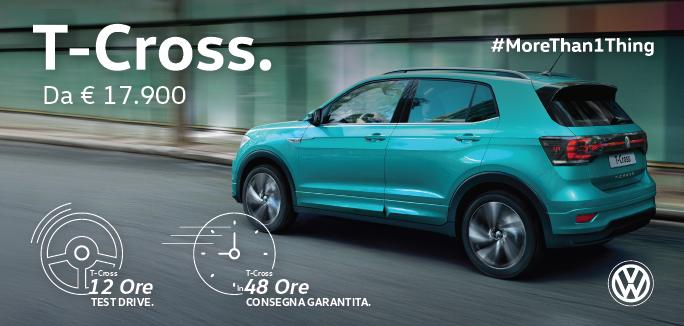 Volkswagen T-Cross - Prenota il Test Drive di 12 ore!