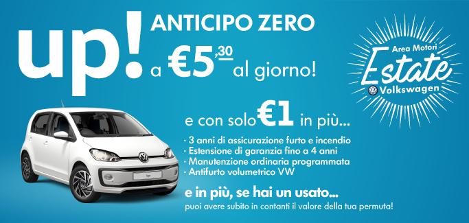 Volkswagen up! Tua a €5,30 al giorno