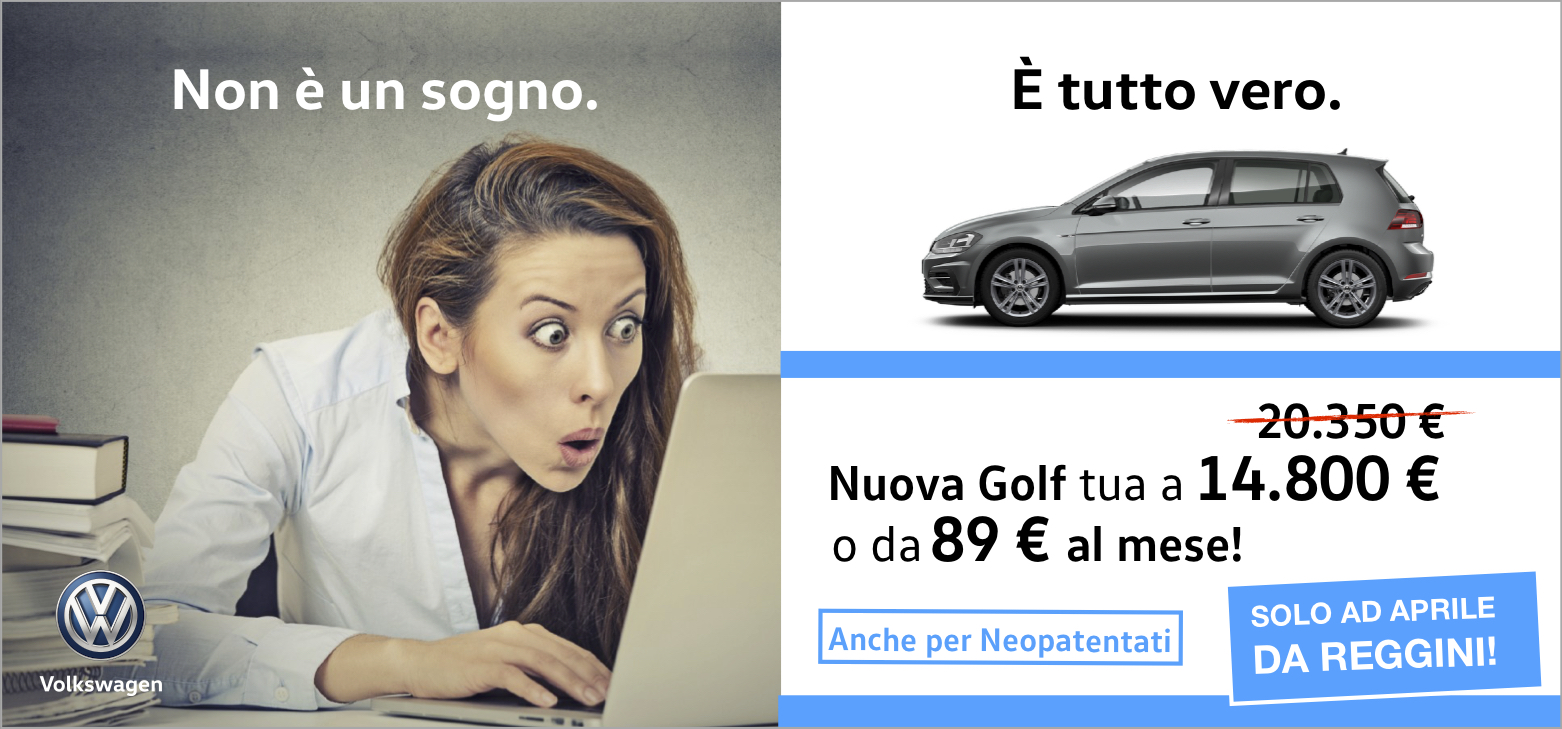 Non è incredibile? Nuova Golf a 14.800 euro!