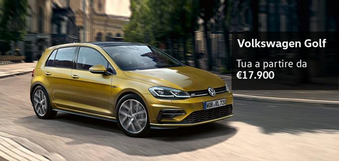 Nuova Golf tua a partire da €17.900