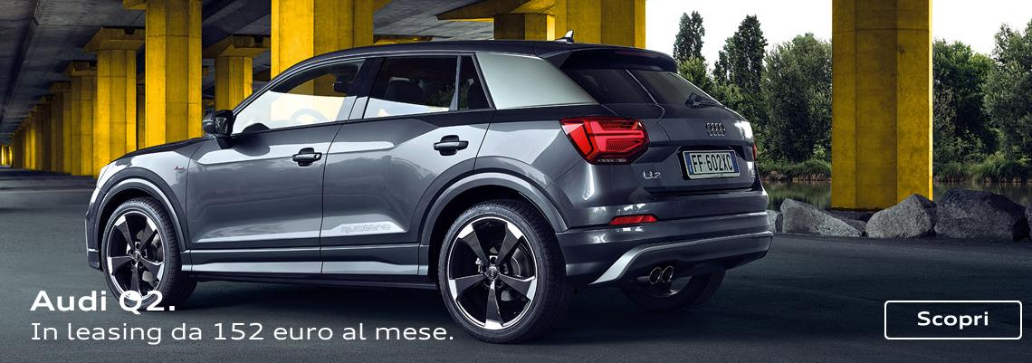 Audi Q2. Da 152 euro al mese con leasing.