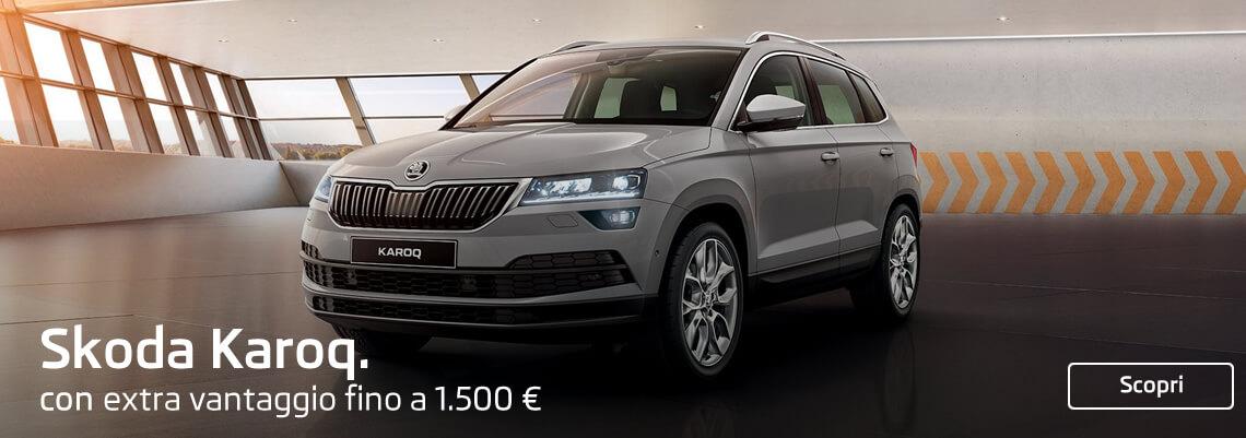 Nuova Skoda Karoq con extra vantaggio di € 1.500