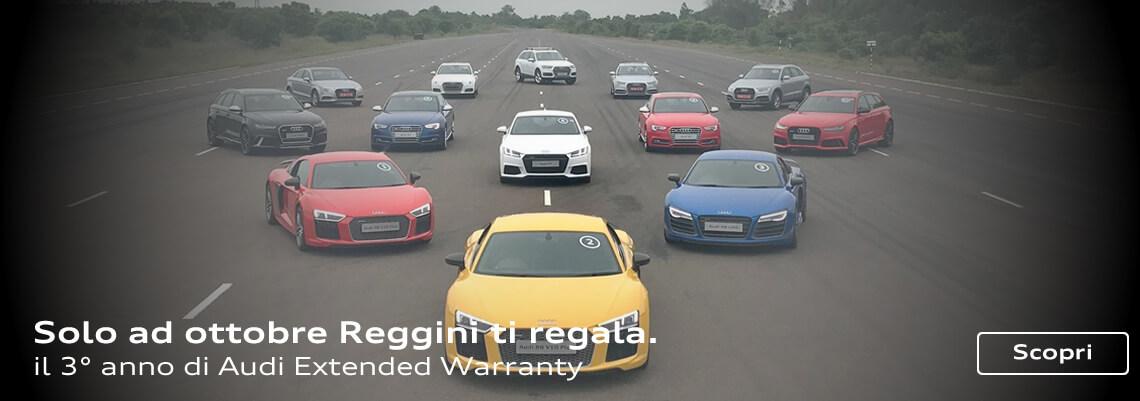 Solo ad ottobre Reggini ti regala il 3° anno di Audi Extended Warranty
