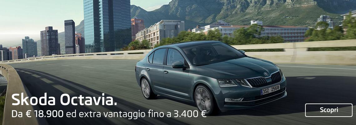 Skoda Octavia da € 18.900 ed extra vantaggio fino a 3.200.