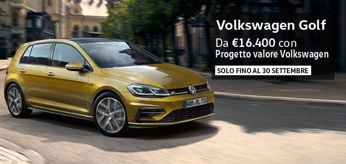 Nuova Golf tua a partire da €16.400