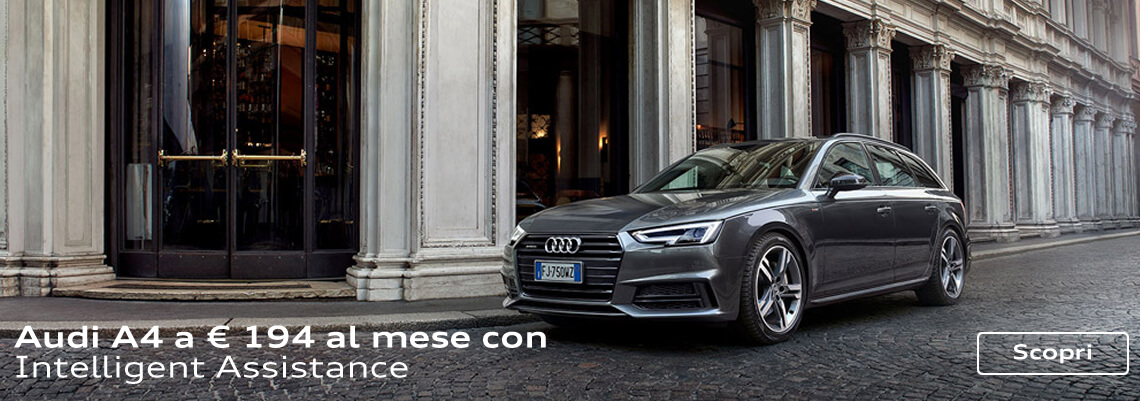 Gamma Audi A4 con finanziamento a tasso 0 ed extra vantaggio fino a € 4.575