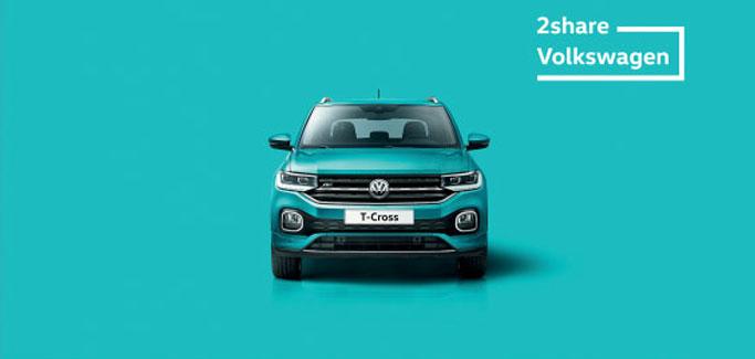 Volkswagen T-Cross con €7 al giorno a testa