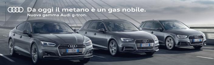 Da oggi il metano è un gas nobile. In arrivo la nuova gamma Audi g-tron