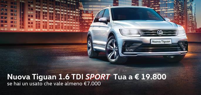 Nuova Tiguan 1.6 TDi Sport 115 cv