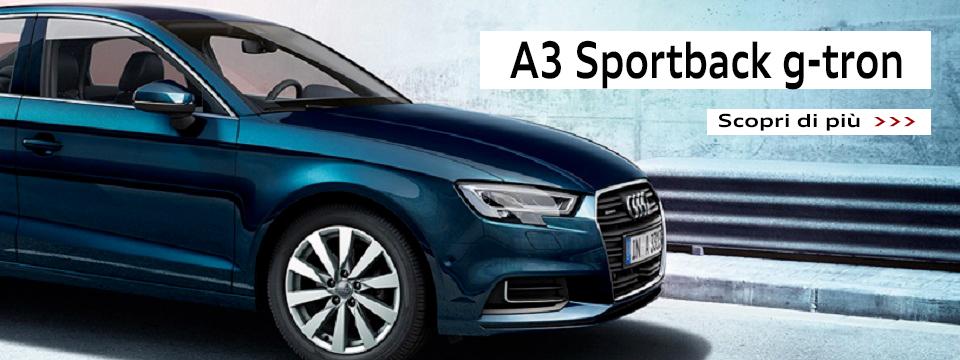 Nuova A3 Sportback g-tron