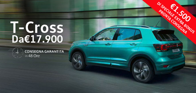 Volkswagen T-Cross tua da €17.900