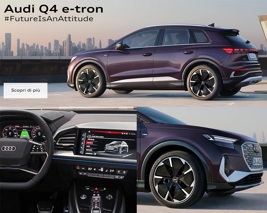 Audi Q4 e-tron, future is an attitude.