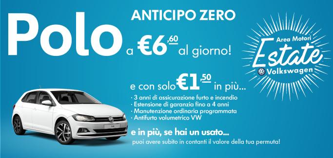 Volkswagen Polo tua a €6,60 al giorno