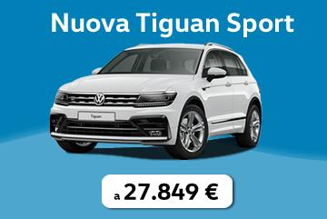 Nuova Tiguan Sport tua a €27.849 con Progetto Valore Volkswagen