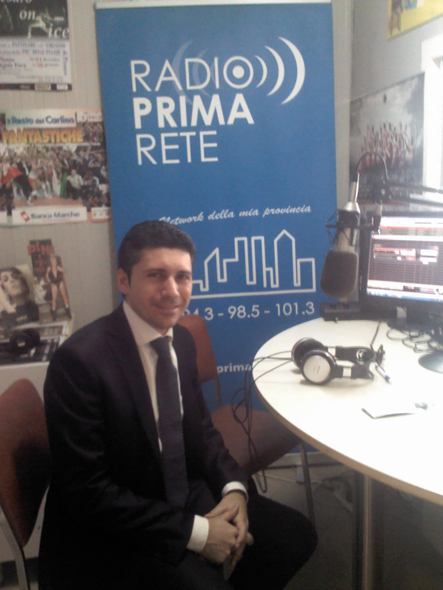 Intervista a Juri Gabellini su Radio Prima Rete.