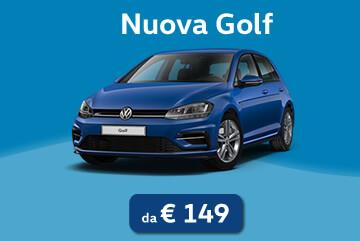 Nuova Golf da 149€ al mese con Progetto Valore Volkswagen