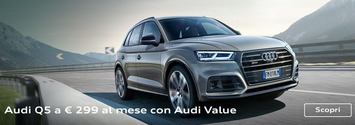 Audi Q5 con finanziamento a tasso 0 ed extra vantaggio fino a € 5.490
