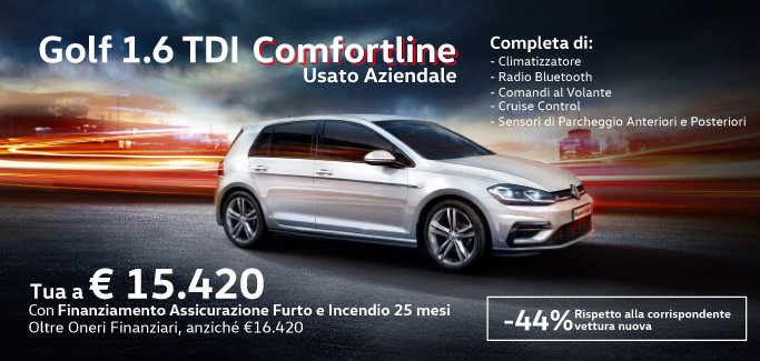 Golf 1.6 TDI Comfortline tua a €15.420